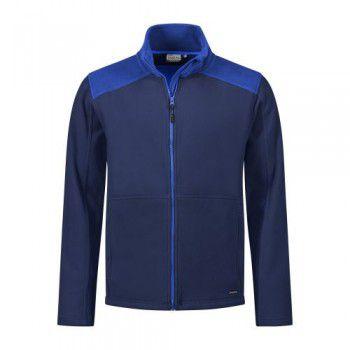 santino-fleecejack-trento-2-color-line-donkerblauw-royalblauw