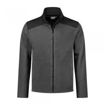 santino-fleecejack-trento-2-color-line-grijs-zwart