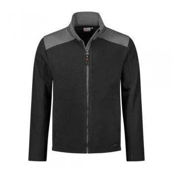 santino-fleecejack-trento-2-color-line-zwart-grijs