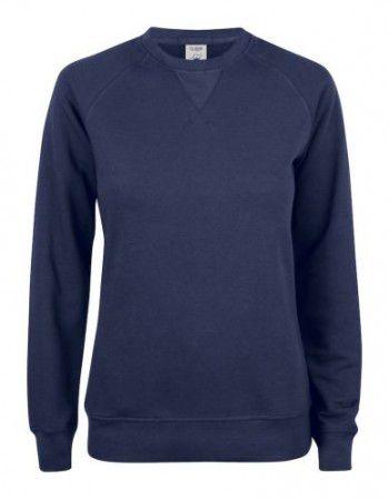 021001-580-clique-premium-organic-cotton-roundneck-ladies-donker-blauw