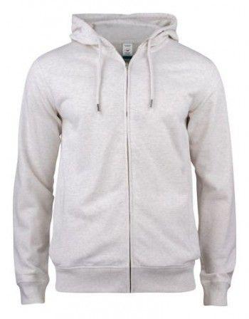 021004-925-clique-premium-organic-cotton-hoody-full-zip-nature-melange
