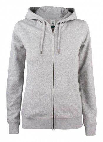 021005-95-clique-premium-organic-cotton-hoody-full-zip-ladies-grijs-melange