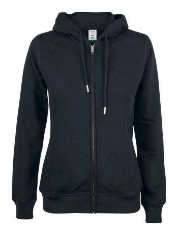 021005-99-clique-premium-organic-cotton-hoody-full-zip-ladies-zwart