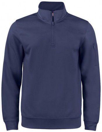 021013-580-clique-basic-active-half-zip-donker-blauw