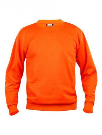 021030-170-Clique-Basic-Sweater-Roundneck-Signaal-Oranje