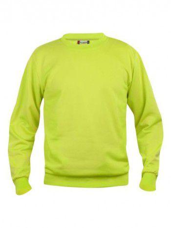 021030-600-Clique-Basic-Sweater-Roundneck-Signaal-Groen