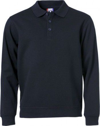 021032 580 Clique Polo Basic Sweater Donker Blauw