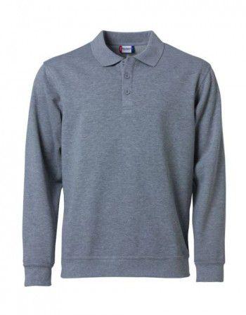 021032 95 Clique Polo Basic Sweater Grijs Melange