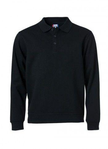 021032 99 Clique Polo Basic Sweater Zwart