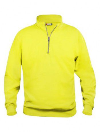 021033 11 Clique Bascic Half Zip Sweater Signaal Geel