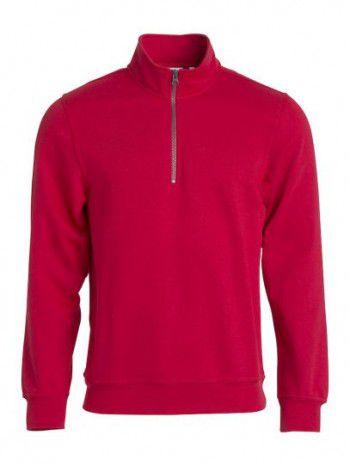 021033 35 Clique Bascic Half Zip Sweater Rood