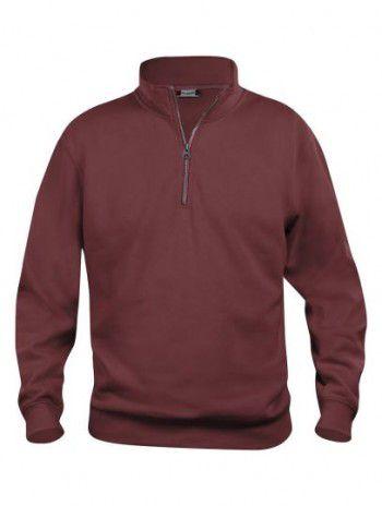 021033 38 Clique Bascic Half Zip Sweater Bordeaux
