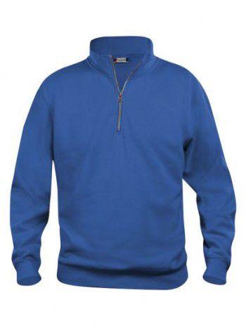021033 55 Clique Bascic Half Zip Sweater Kobalt