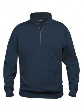 021033 580 Clique Bascic Half Zip Sweater Donker Blauw
