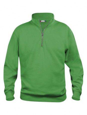 021033 605 Clique Bascic Half Zip Sweater Appel Groen