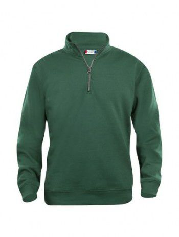 021033 68 Clique Bascic Half Zip Sweater Flessen Groen