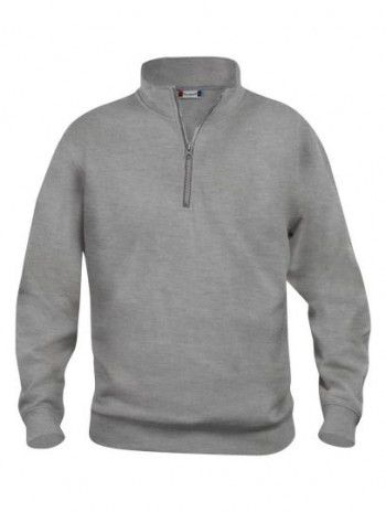 021033 95 Clique Bascic Half Zip Sweater Grijs Melange