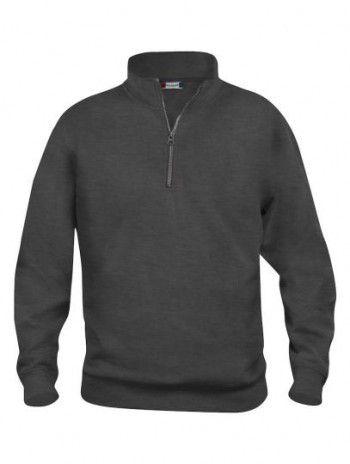 021033 955 Clique Bascic Half Zip Sweater Antraciet Melange