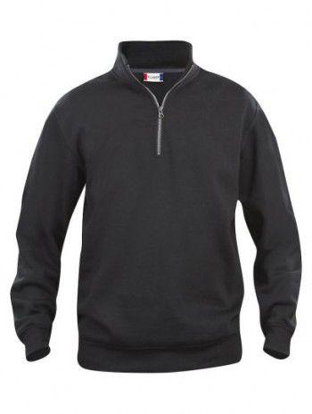 021033 99 Clique Bascic Half Zip Sweater Zwart