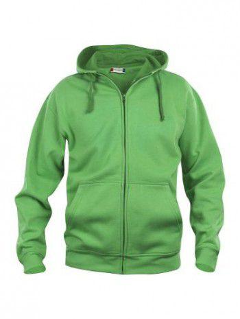 021034-605-clique-basic-hoody-fullzip-heren-appel-groen