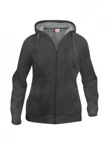 021035-955-clique-basic-hoody-fullzip-dames-antraciet-melange