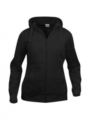 021035-99-clique-basic-hoody-fullzip-dames-zwart
