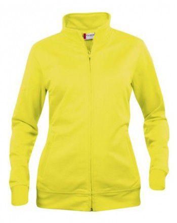 021039-11-clique-basic-cardigan-dames-signaal-geel-high-visability