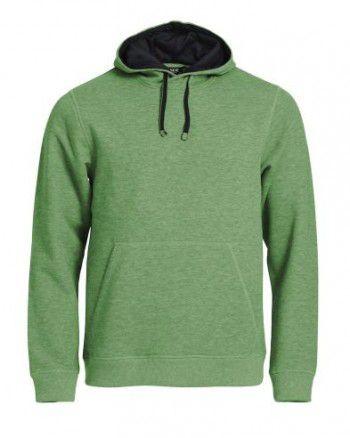 21041-676-clique-classic-hoody-appel-groen-melange-zwart