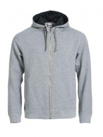 021044-95-clique-classic-hoody-full-zipp-grijs-melange-zwart
