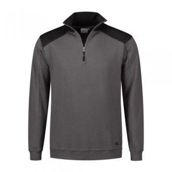 santino-zipsweater-tokyo-grijs-zwart