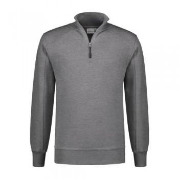 santino-roswell-zip-sweater-basic-line-grijs-melange