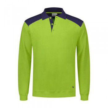 santino-polo-sweater-tesla-lime-donkerblauw