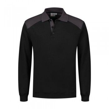 santino-polo-sweater-tesla-zwart-grijs