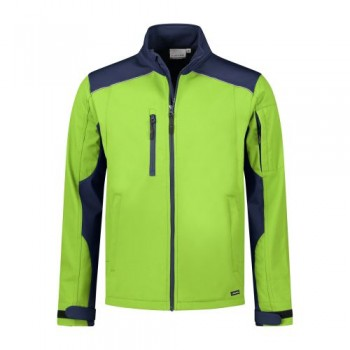 santino-softshell-jack-tour-2-color-line-lime-donkerblauw
