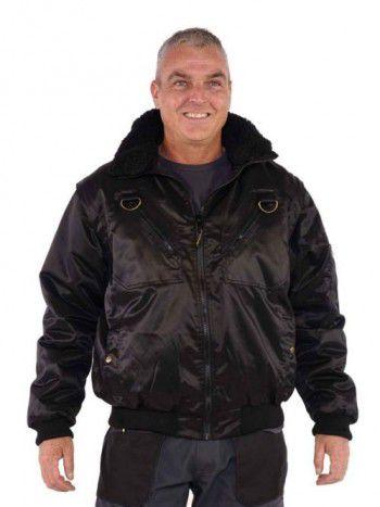 storvik-werkjas-pilotjack-zwart-stockholm-voorzijde