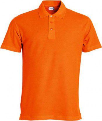 028230 18 Clique Basic Polo heren Diep Oranje