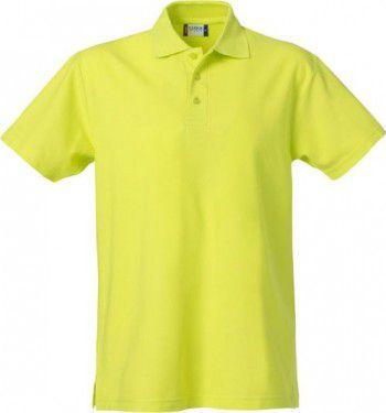 028230 600 Clique Basic Polo Heren Signaal Groen