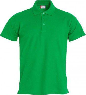028230 605 Clique Basic Polo Heren Appel Groen