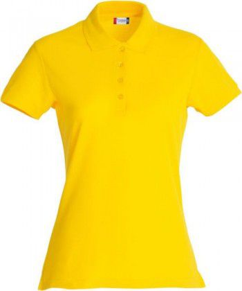 028231 10 Clique Basic Polo Ladies Lemon