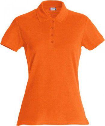 028231 18 Clique Basic Polo Ladies Diep Oranje
