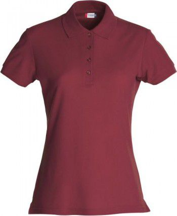 028231 38 Clique Basic Polo Ladies Bordeaux