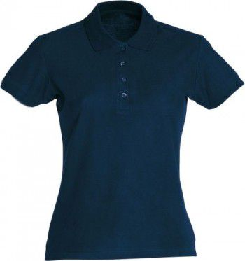 028231 580 Clique Basic Dames Polo Donker Blauw