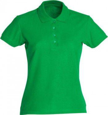 028231 605 Clique Basic Polo Dames Appel Groen