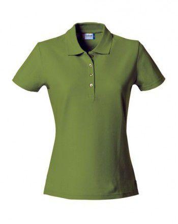 028231 71 Clique Basic Dames polo Leger groen