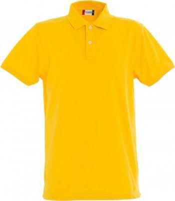 028240 10 Clique  Stretch Premium Heren polo lemon