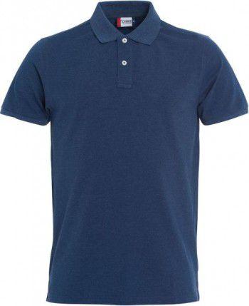 028240 565 Clique  Stretch Premium Heren polo blauw melange
