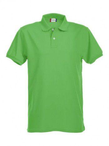 028240 605 Clique  Stretch Premium Heren polo Appel Groen