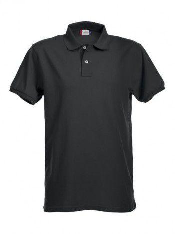 028240 99 Clique  Stretch Premium Heren polo zwart