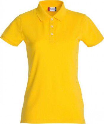 028241 10 Clique Stretch Premium Polo Dames Lemon