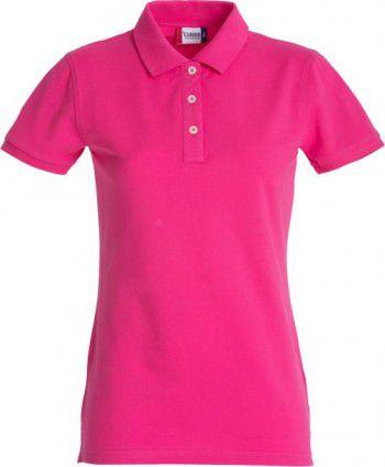 028241 300 Clique Stretch Premium Polo Dames Helder Kersen